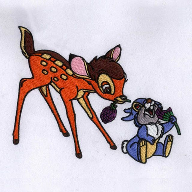 Digitizing For Embroidery  Delightful Bambi and Thumper Embroidery Design