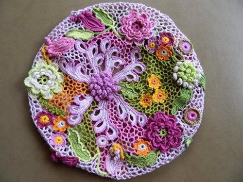 Unique Handmade Irish Crochet Lace Cap | eBay