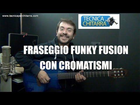 Lezioni di chitarra:fraseggio Funk Fusion con cromatismi…