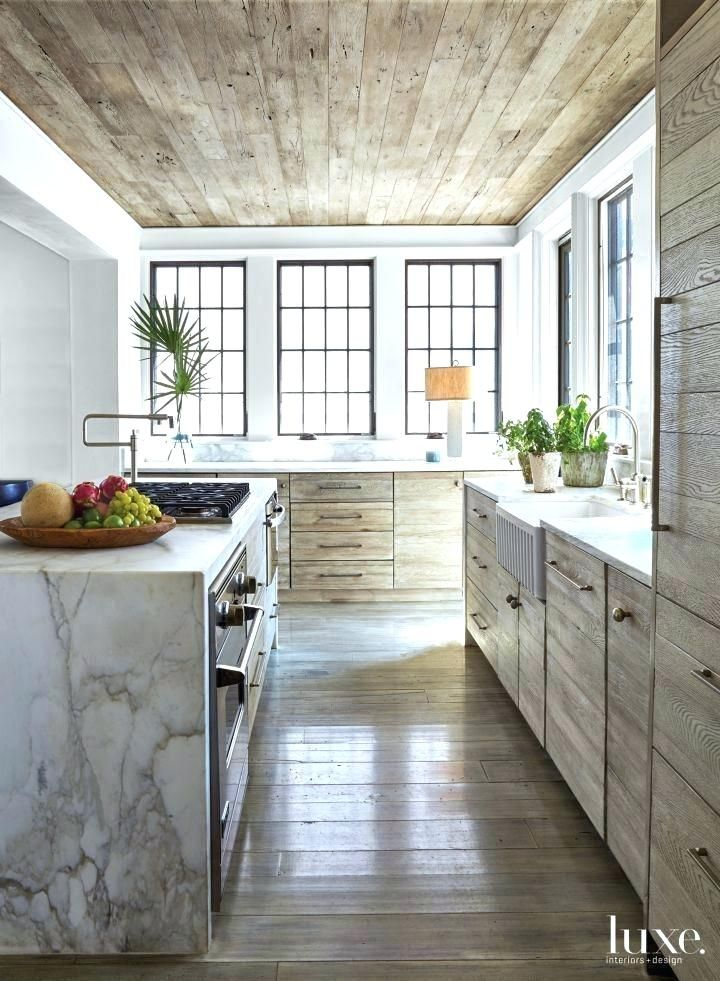 Small Rustic Kitchen Hanging Cabinets