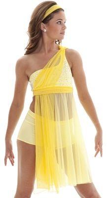 Yellow dance costume.