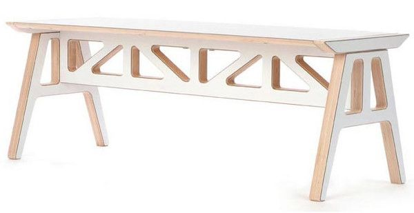 2Modern Context Furniture Truss A-Frame Bench   $450