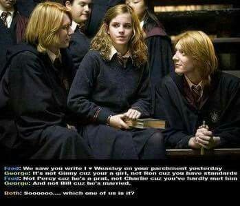 Omg this is too good XD  Tbh, if I was in Hermione's place, I would be blushing red.
