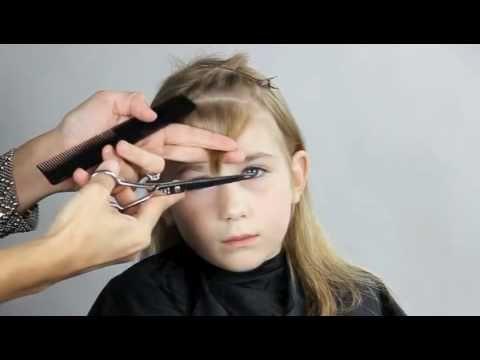 How to cut little girls bangs