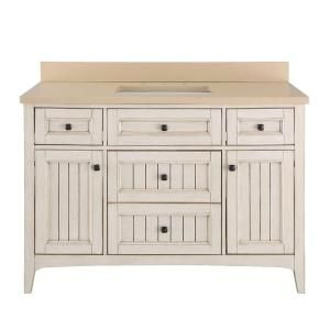 Home Decorators Collection Klein 49 in. Vanity in Antique White with Quartz Vanity Top in Beige with White Basin KLWVT4922D at The Home Depot - Mobile