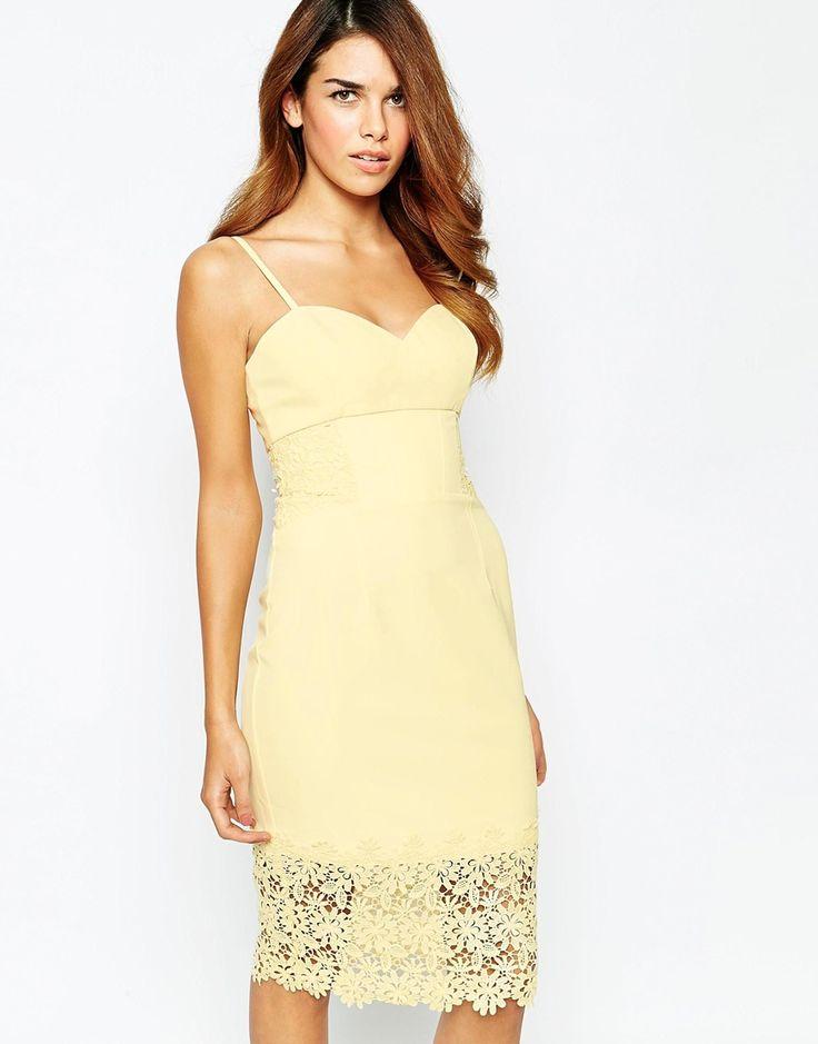 Michelle keegan loves lipsy lace detail cami pencil dress for Michelle keegan wedding dress
