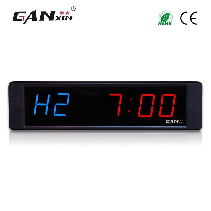 "[Ganxin]1"" 6 Figures Digital LED Interval Display Gym Wall Timer Stopwatch Countdown/up clock"