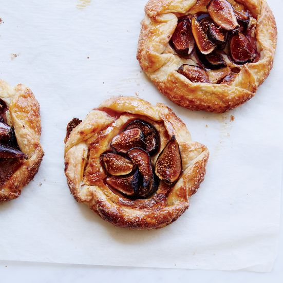 Free-form fig-and-almond tarts from baker Gesine Bullock-Prado