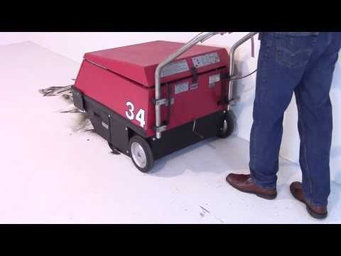 """http://www.thesweeper.com/ This video demonstrates the shear simplicity and greatness of the Factory Cat model 34 walk behind sweeper. The Factory Cat 34 has not changed since its birth year 25 years ago. Why this machine hasn't changed after all of these years, you may wonder. The answer is simple, as the old saying goes, """"If it ain't broke, don't fix it."""""""