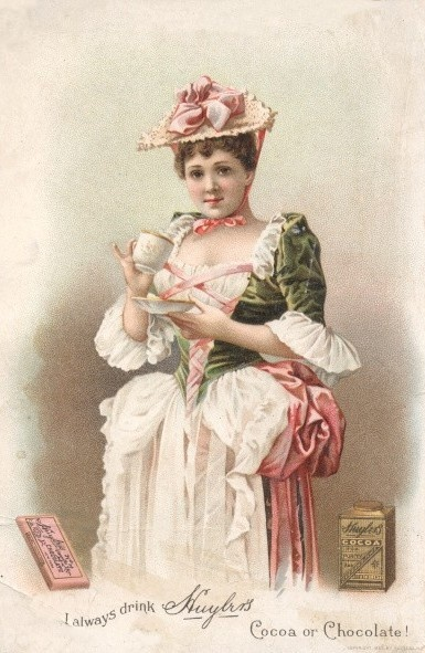 huylers cocoa vintage postcards tradecards pinterest