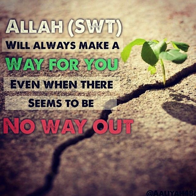 ... And whoever fears Allah - He will make for him a way out - Quran ( 65:2) #Quran