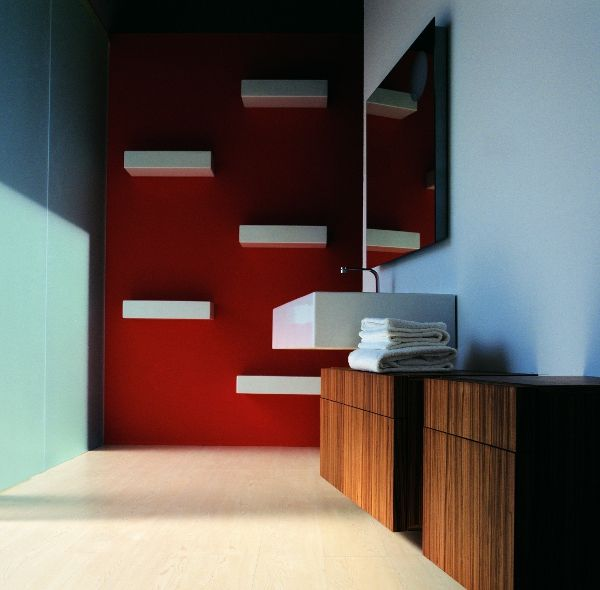 ACQUAGRANDE #washbasin designed for Flaminia | #Palomba #bathroom #design