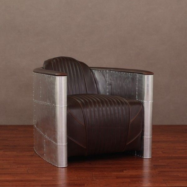 Accelerator Vintage Tobacco Leather Chair - Overstock™ Shopping - $599.00