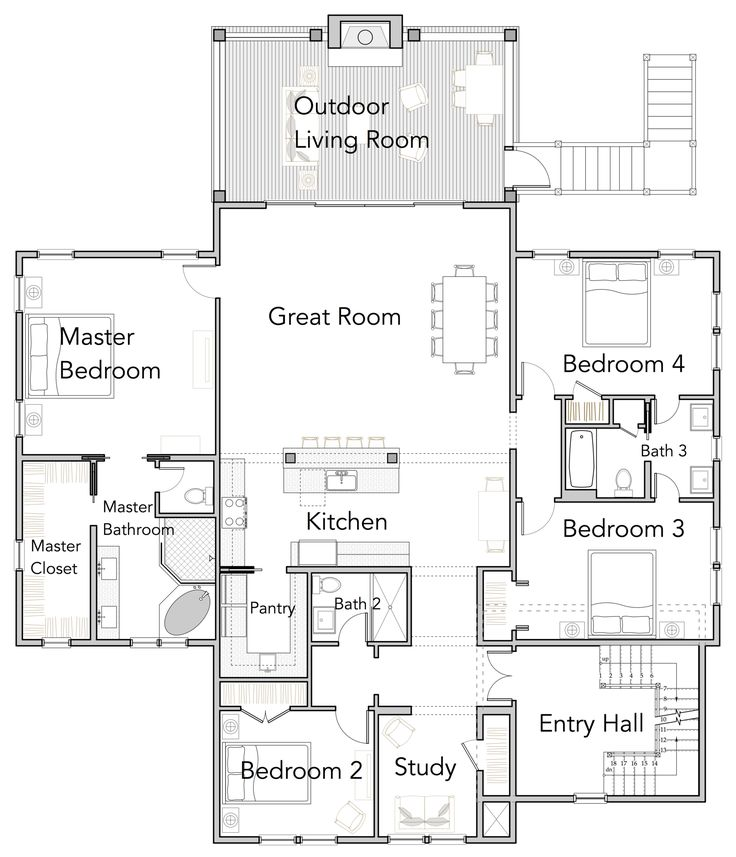 76 best images about 2 500 3 000 sq ft on pinterest for 2500 sq ft house plans with walkout basement