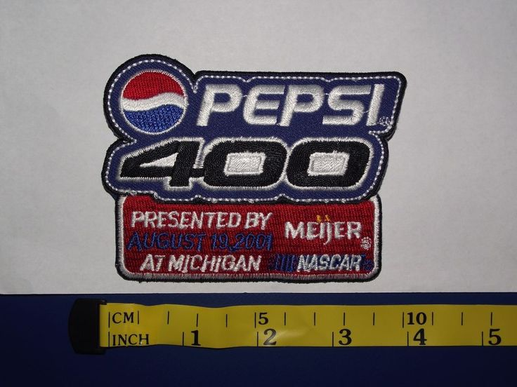 2001 Pepsi 400 Presented by Meijer NASCAR Patch Michigan August 19 #Daytona #ChipGanassiRacing