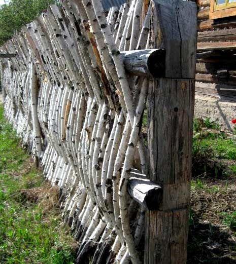 Как сделать и сплести забор из веток своими руками: фото и видео | Instrumentos.com.ua