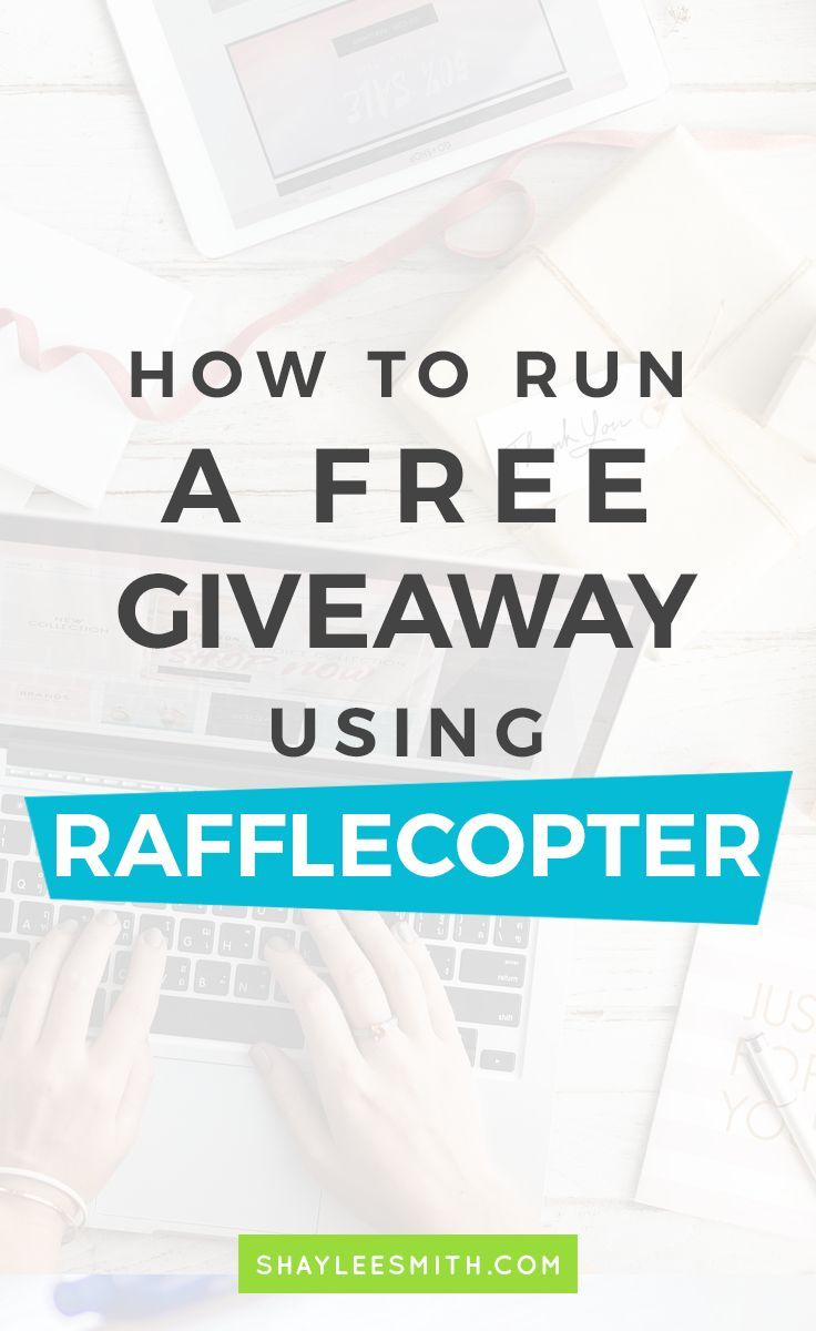 Running a giveaway on your website, blog, or Facebook page is super simple and FREE with Rafflecopter. Connect with your audience and bring in traffic! // Shaylee Smith