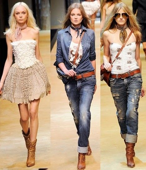 Moda country feminina 2012