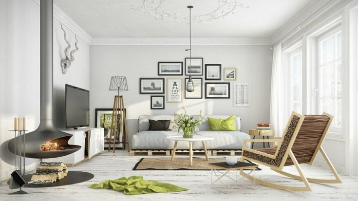 Scandinavian living room. YouTube. www.kenisahome.com