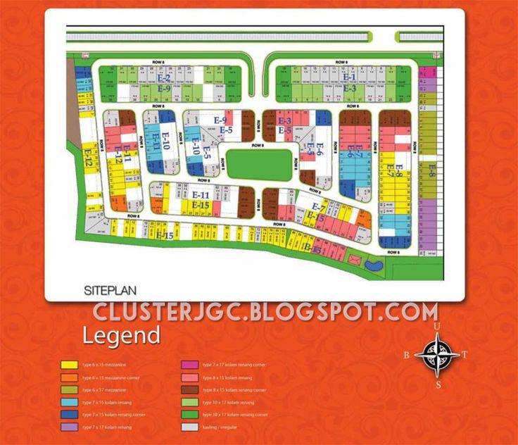 Siteplan Cluster Yarra Jakarta Garden City