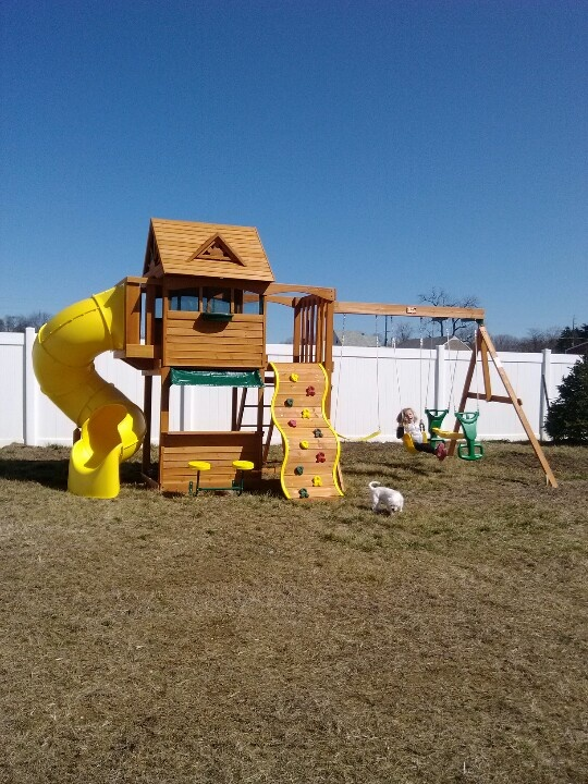 Big Backyard Summerville Playset from Toys R Us installed ...