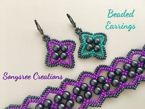Easy Beaded Earrings ~ Seed Bead Tutorials