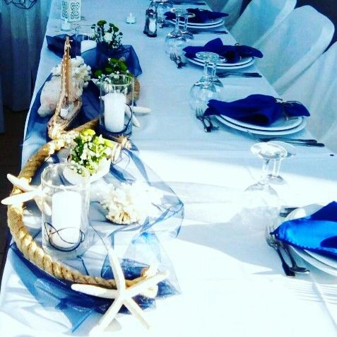 Summery sea shell theme. Private villa party in Crete by Royal Blue Luxury Events.  www.royalblueevents.gr