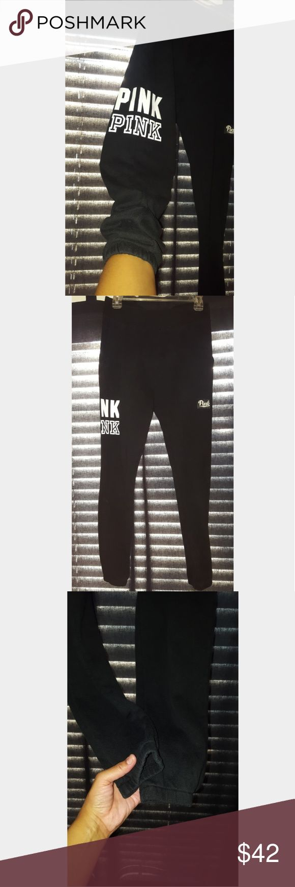 In EUC VS Pink Joggers!!! In Excellent Used Condition #Victoria'sSecret #Pink #Joggers No flaws. No rips, stains, or holes!!! Super Cute These Are!!! Thank you For Looking!!!  Need help getting styled? Ask! I'm here to help. Thank you! PINK Victoria's Secret Pants Track Pants & Joggers