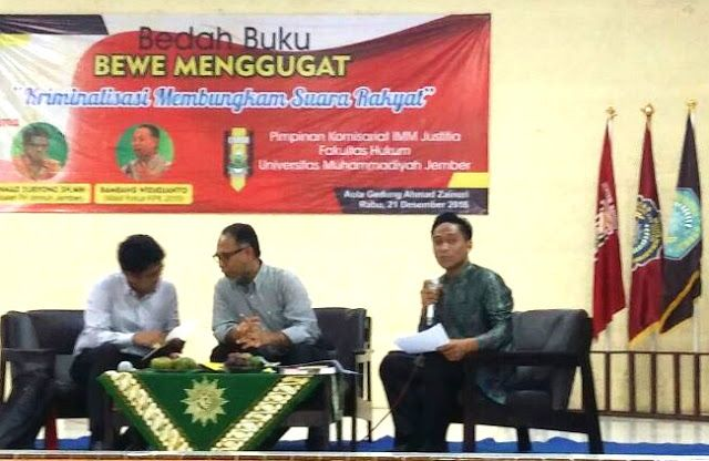 Bedah Buku BEWE Menggugat Bambang Widjojanto: Pemuda Berperan Penting Dalam Perubahan Bangsa #IMM khazanah sospol unmuh jember