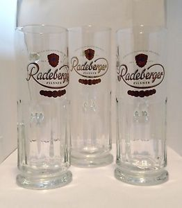 RADEBERGER-Pilsner-0-5L-Gold-Logo-Mug-Beer-Glass-German-Beer-NEW-lot-of-3