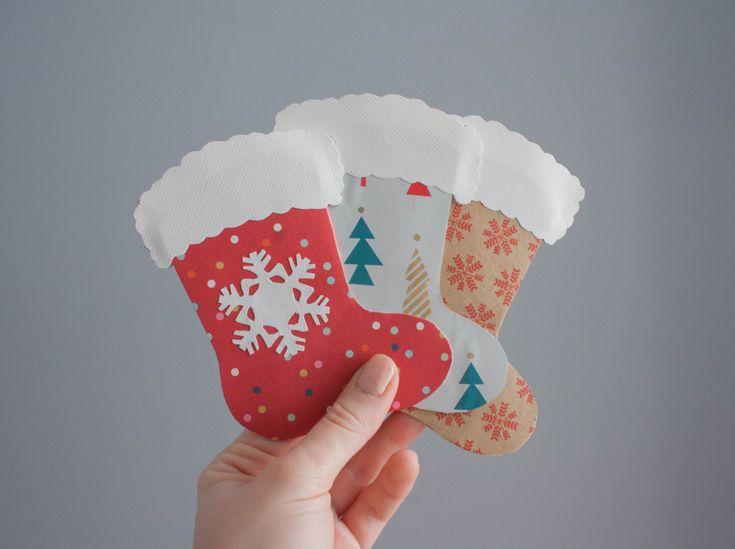 Easy handmade Christmas cards and gift tags – Christmas stockings!