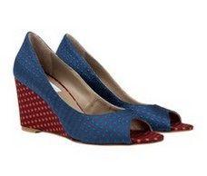 Cannes Mutil colour spots high wedge Italian heels