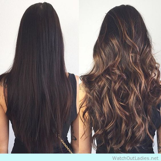 How to go from dark brunette to light brown with balayage highlights