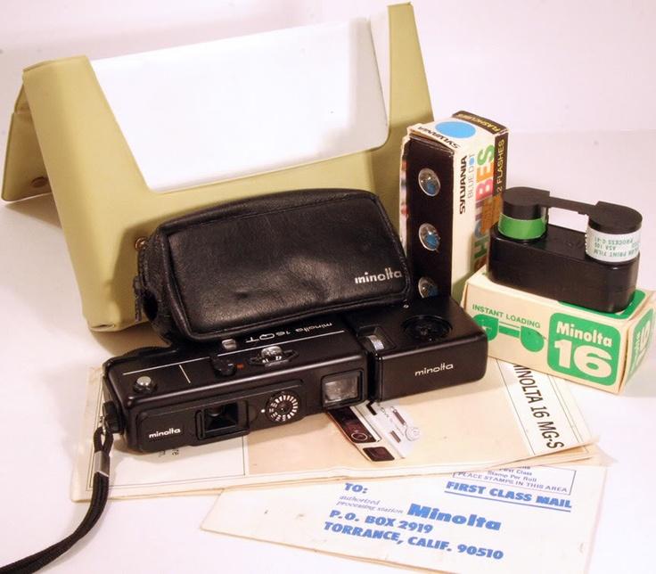 16mm film Compact Minolta 16 Spy Camera Vintage