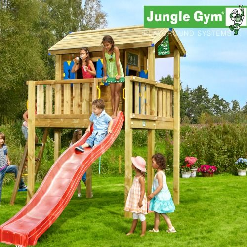 Jungle Gym Playhouse Grow With Me Range - Kids Wooden Climbing Frames : Wooden Climbing Frames for children