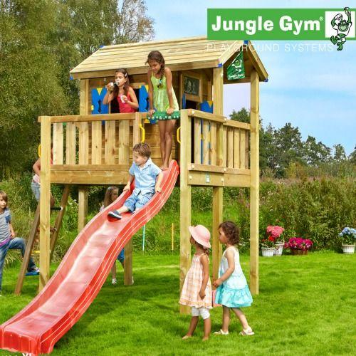 jungle gym playhouse grow with me range kids wooden. Black Bedroom Furniture Sets. Home Design Ideas