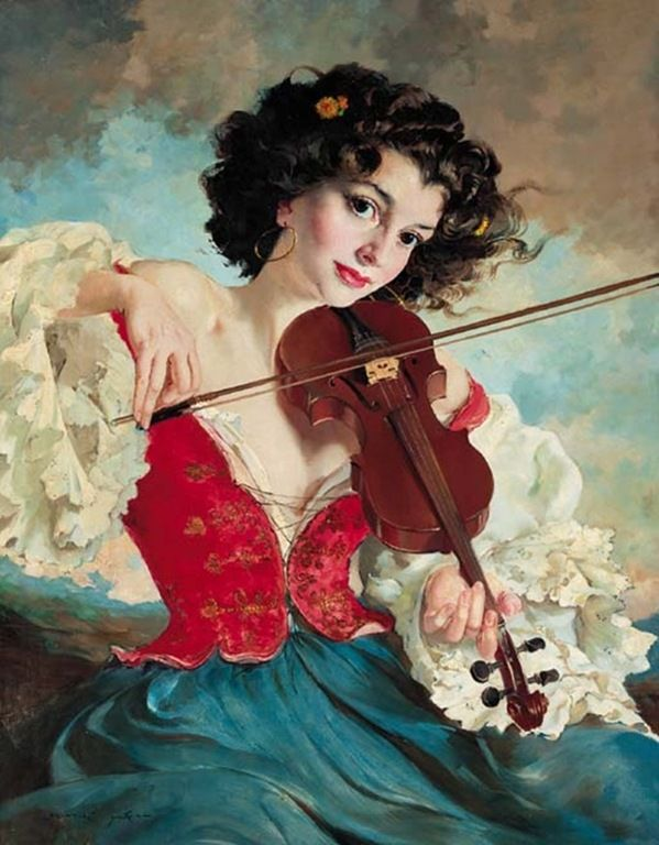 Maria Szantho (1897-1997, Hungary) - The gypsy fiddler