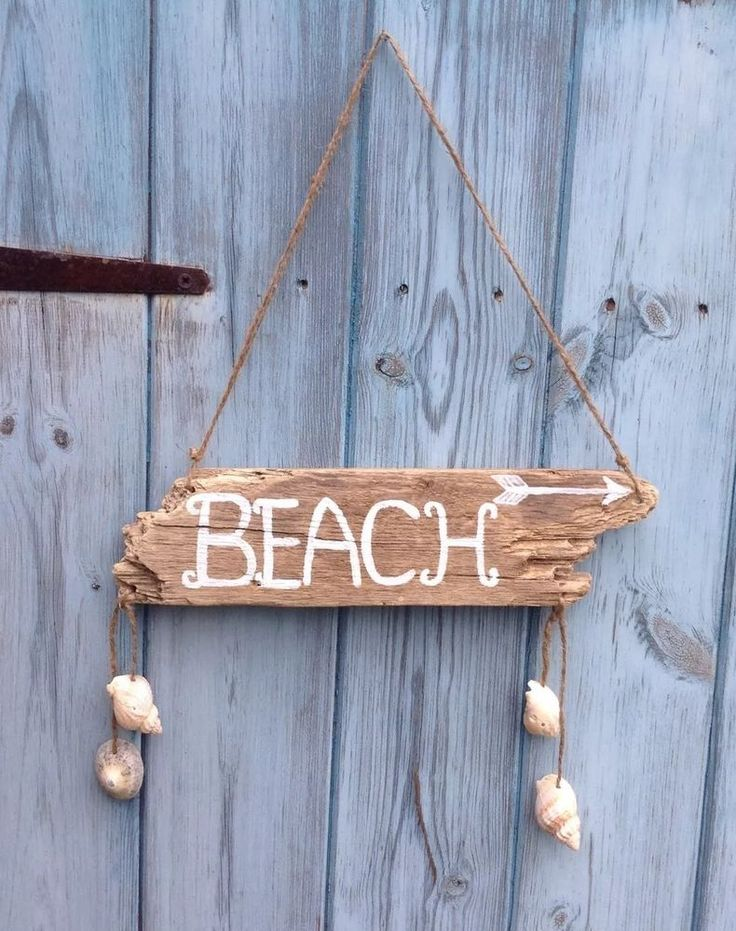Handmade Nautical Driftwood Beach Sign