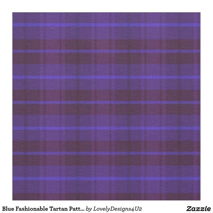 Blue Fashionable Tartan Pattern Fabric