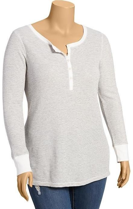 Old Navy Women's Plus Waffle-Knit Striped Tops on shopstyle.com.au
