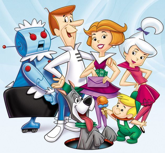 The Jetsons. 1963. I'm still waiting for my flying car :-)