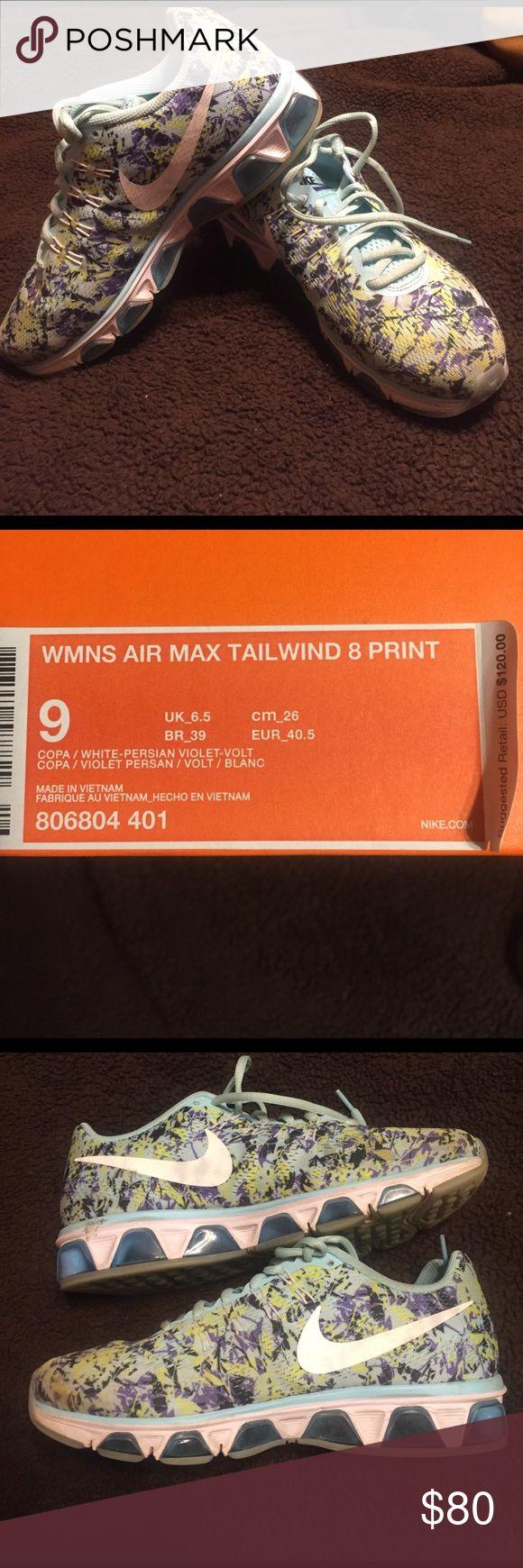 Nike Air Max Tailwind 8 Print women's 9 Nike Air Max Tailwind 8 Print. Women's 8. Gently used. Normal wear. Smoke free home. Nike Shoes Athletic Shoes