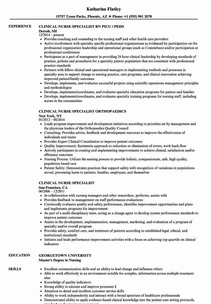 √ 25 nursing clinical experience resume in 2020  nurse