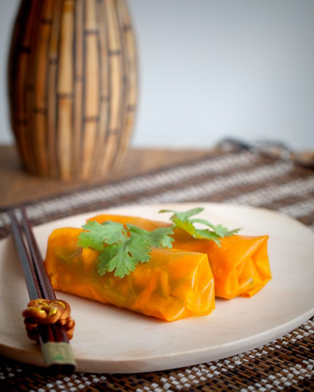 Pumpkin Paper Rolls - Completely Gluten and Grain Free - For that special dinner party. A little effort required in making the paper with dehydration overnight.