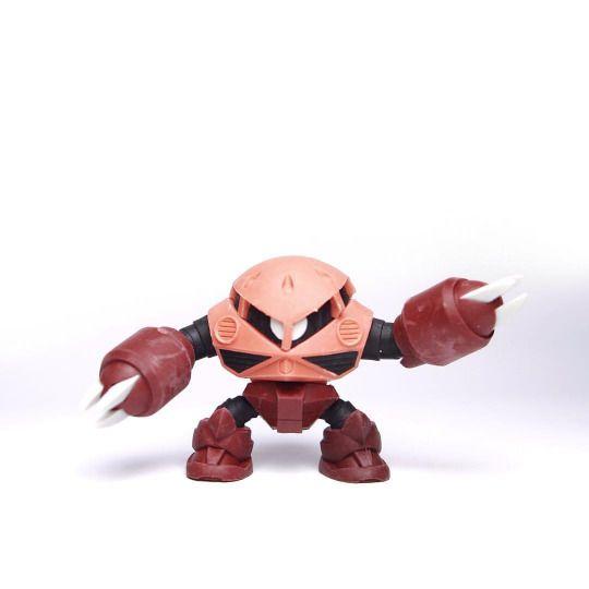 Front Side Build Model MSM-07S Char Z'gok  Series : Build model Gundam  Brand : Bandai  Release : January 2015  Height : +- 45mm  Price : 350Yen  #ズゴック #シャアアズナブル #機動戦士ガンダム #ガチャガチ#Gunpla #ModelKit #Gashapon #Gacha #MiniFigure #Figure #Toys #Zgok #CandyToys #BuildModel #Bandai #CharAznable #Zeon #Zugokku #MobileSuits #Gundam #Jaburo #OneYearWar #UniversalCentury #Toys #ToyPhotography #Instagram #InstaToys #Amphibious