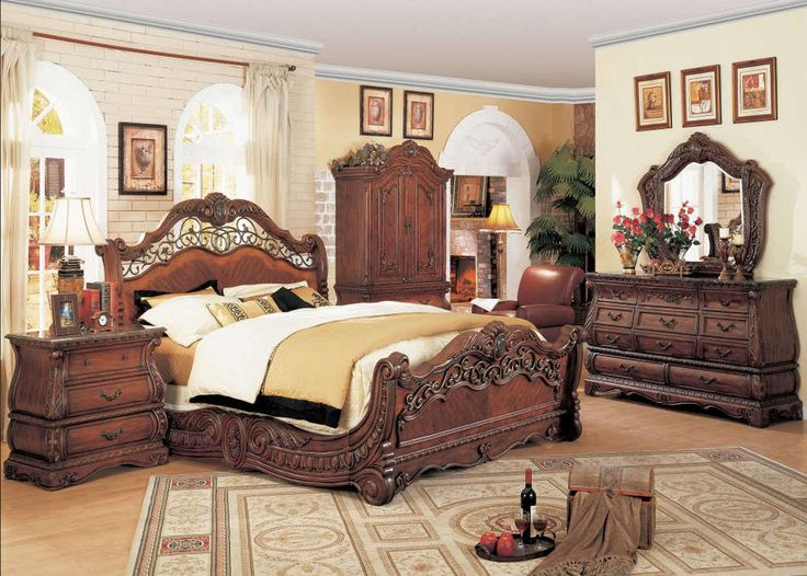 Cherry Bedroom Furniture Traditional - Interior Design