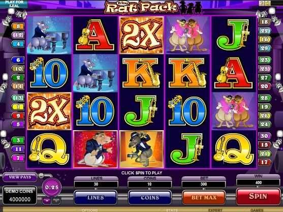The Rat Pack™ Slot Machine Game to Play Free in Microgamings Online Casinos