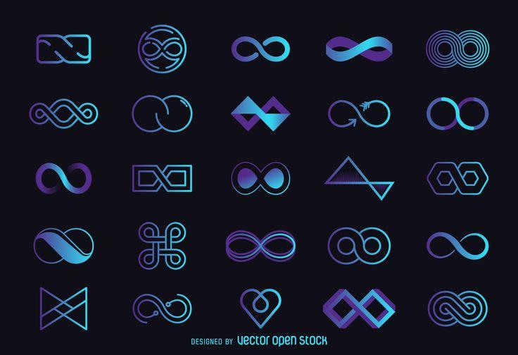 Infinity logo template set