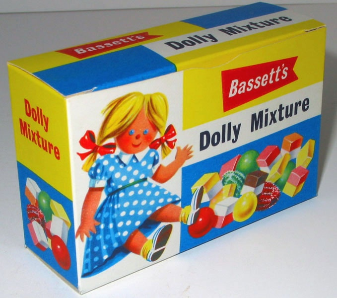 Bassett's Dolly Mixture shop box c1950s