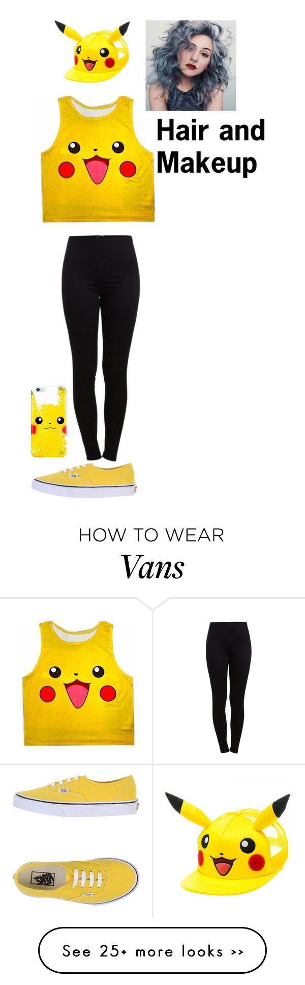 """Pika-Pikachuuu!!"" by elena93140 on Polyvore featuring Pieces and Vans"
